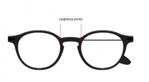 lunghezza ponte dell'occhiale